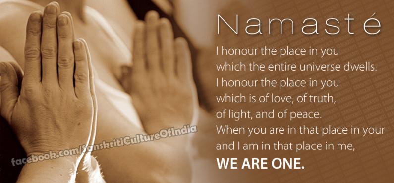 "Namasté – It means more than just a ""HI"""