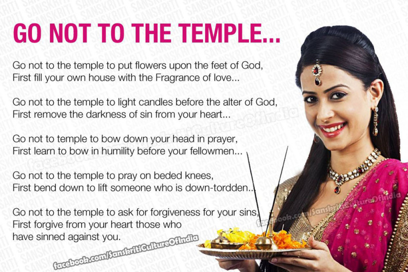 Don't go to temple unless