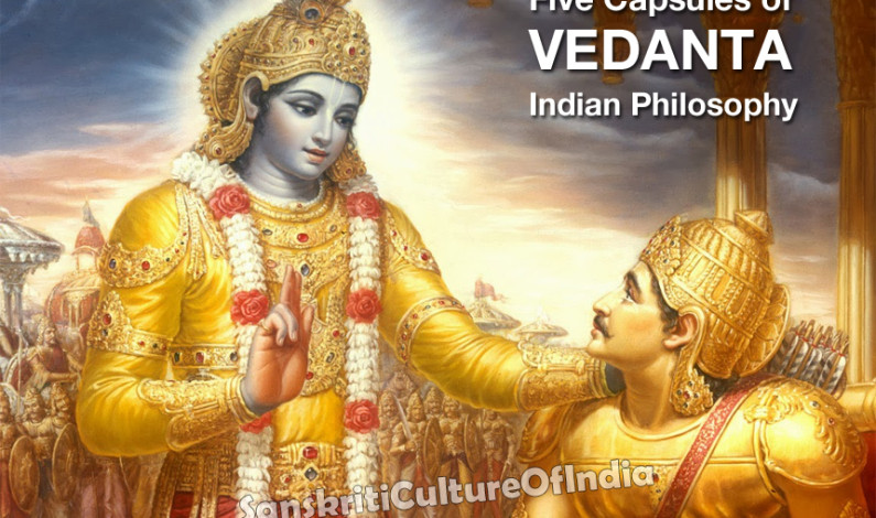 Five Capsules of Vedanta Indian Philosophy