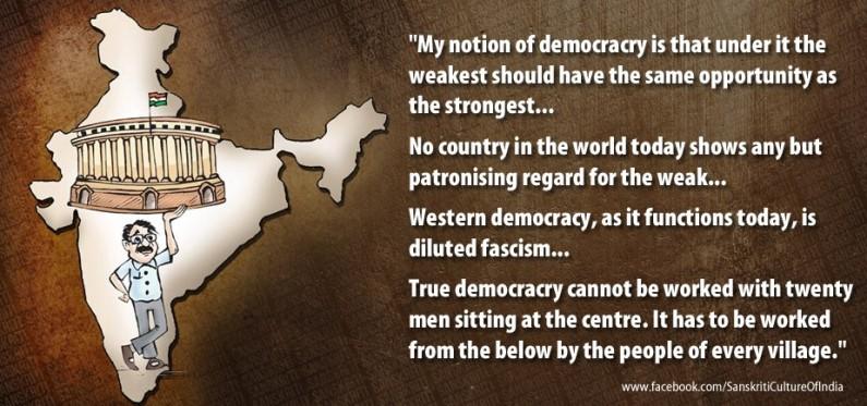 My Notion of Democracy