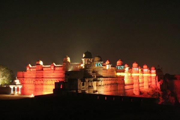 Gwalior Fort at Night