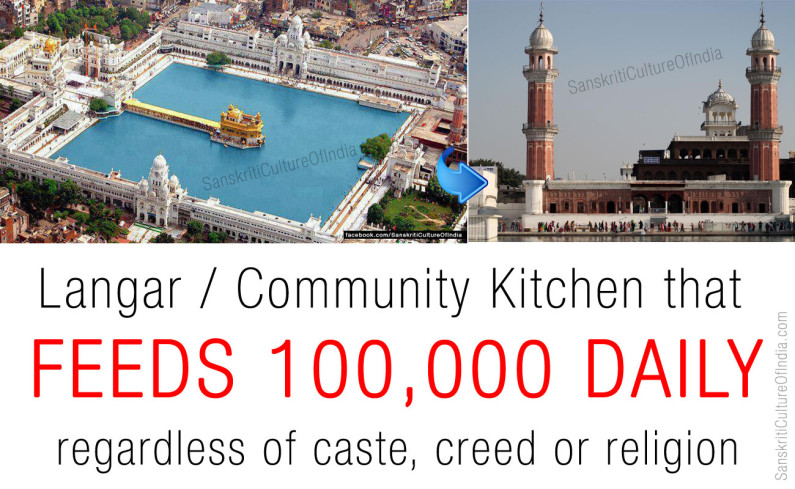 Golden Temple Kitchen that feeds 100,000 daily
