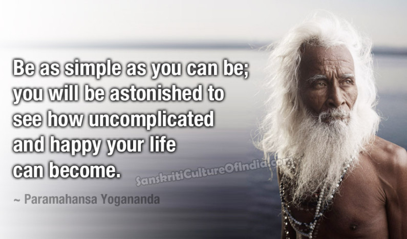 Be as simple as you can be