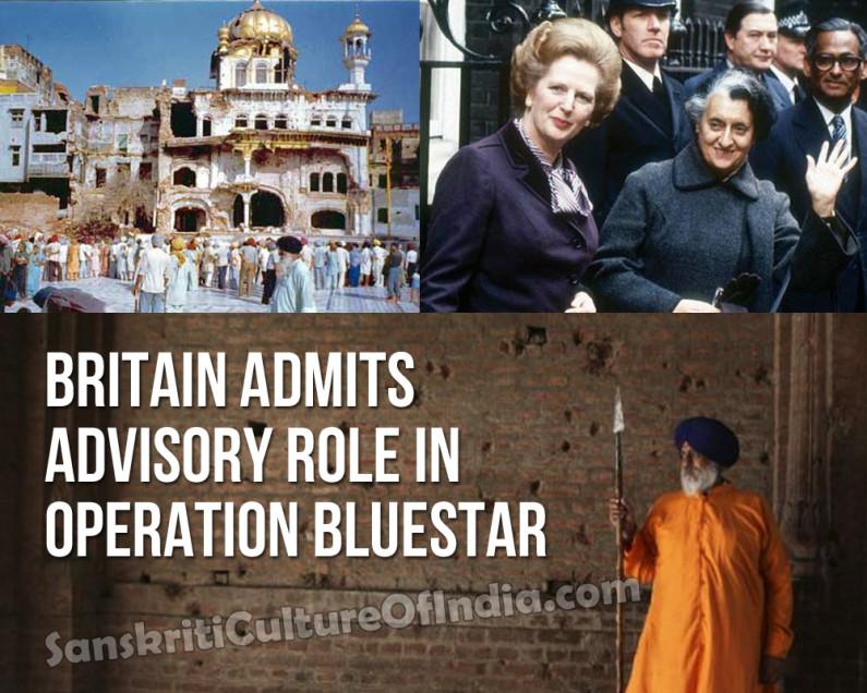 Britain Admits Advisory Role In Operation Bluestar