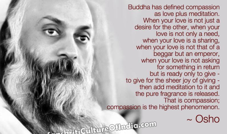 Compassion = Love + Meditation