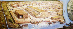 Harappan civilisation at Lothal near the present-day Mangrol harbour on the Gujarat coast