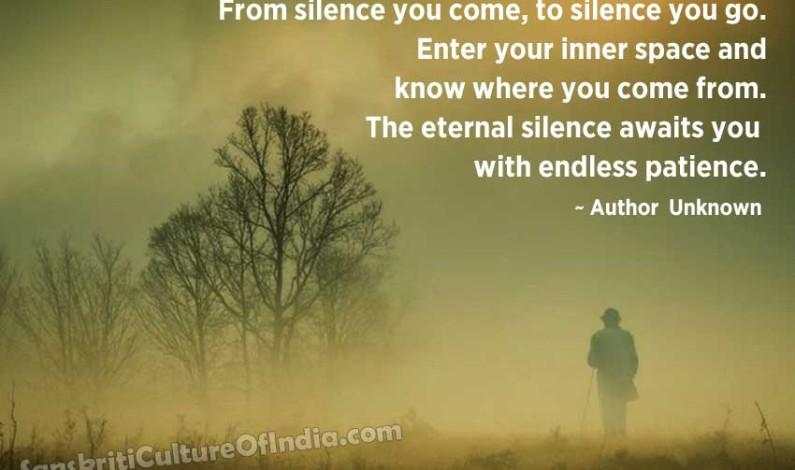 Silence….