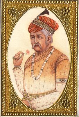 Emperor-Akbar-Empress-Jodha-RARE-Mughal-Miniature-Art-Royal-Historical-Painting-190697969821-3