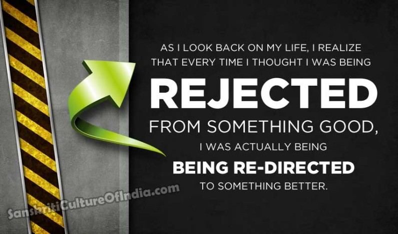 Rejected or re-directed?