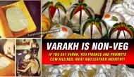 Varakh/Silver Foil is NOT VEGETARIAN