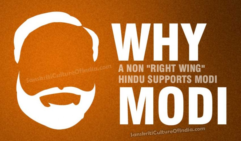 """Why a non """"right wing"""" Hindu supports Modi"""