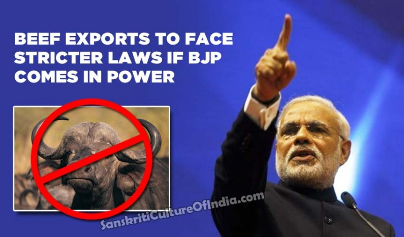 Beef exports to face stricter laws if BJP comes in power