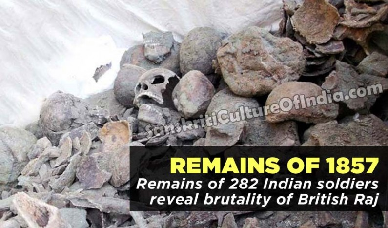 British Raj brutality revealed in remains of 282 soldiers killed in 1857
