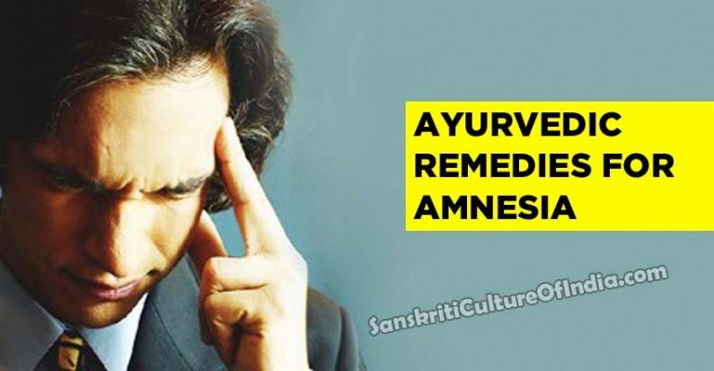Ayurvedic remedies for amnesia