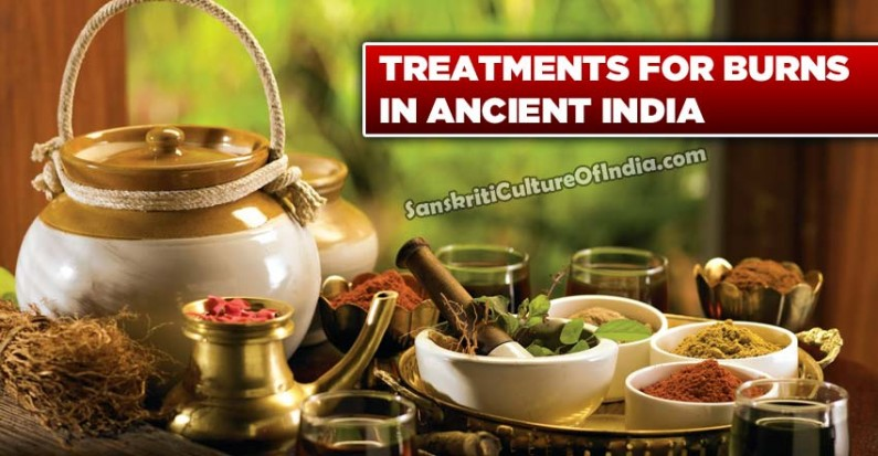Treatments for burns in ancient India