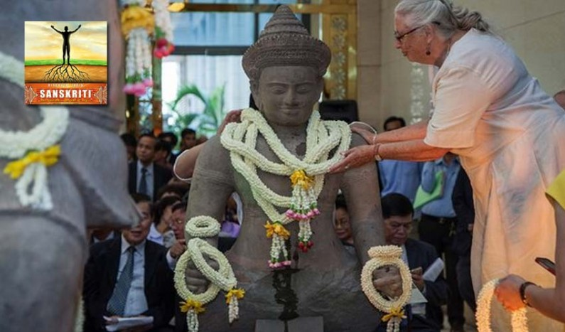 Stolen ancient Hindu statues returned to Cambodia