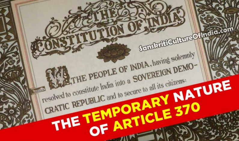 The Temporary Nature Of Article 370