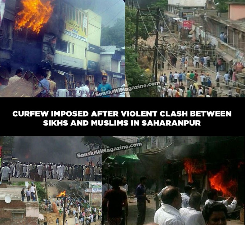 Curfew Imposed After Violent Clash Between Sikhs and Muslims in Saharanpur