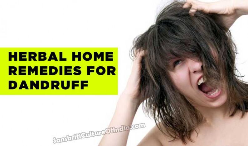 Herbal home  remedies for dandruff