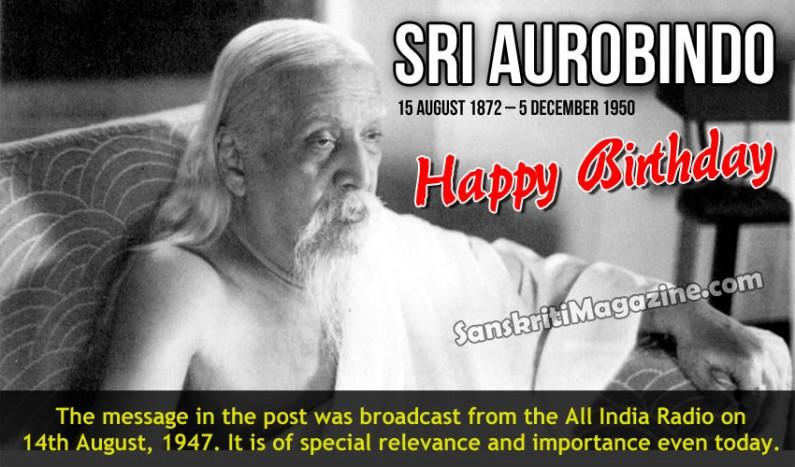 Sri Aurobindo:  15 August 1872 – 5 December 1950