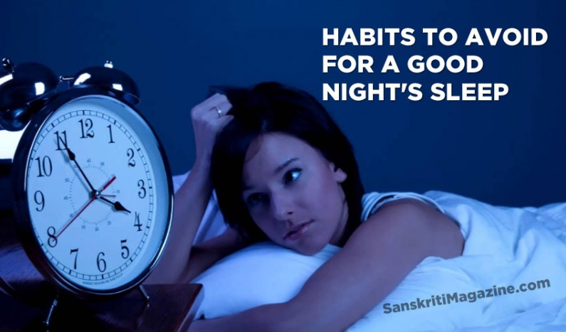 Habits to avoid for a good night's sleep