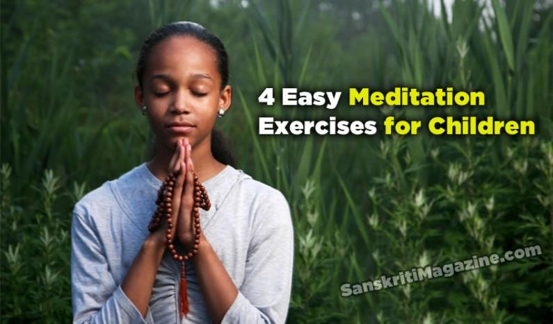 Four easy meditation exercises for children