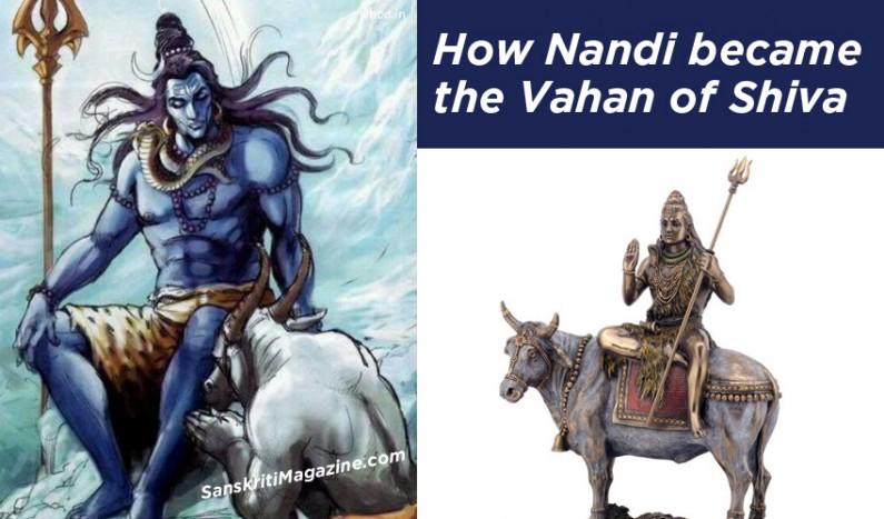 How Nandi became the Vahan of Shiva