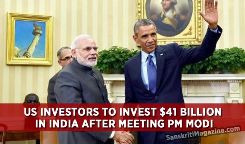 Modi effect: US investors to invest $41 billion in India
