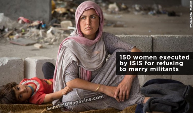 150 women executed by ISIS for refusing to marry militants