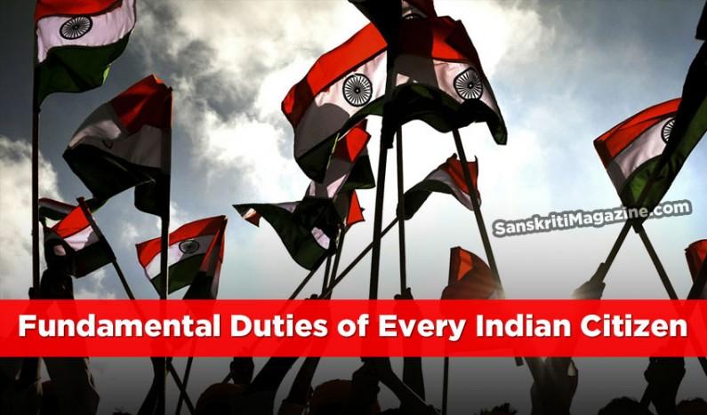 Fundamental Duties of Every Indian Citizen