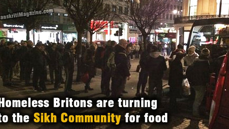 Homeless Britons are turning to the Sikh community for food