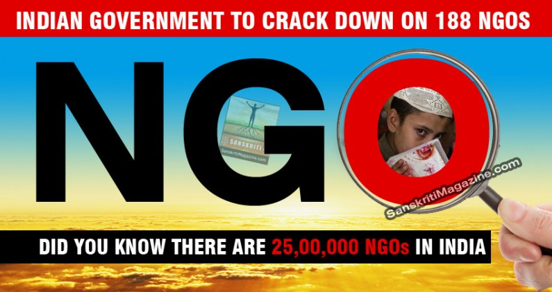 Indian government to crack down on 188 NGOs