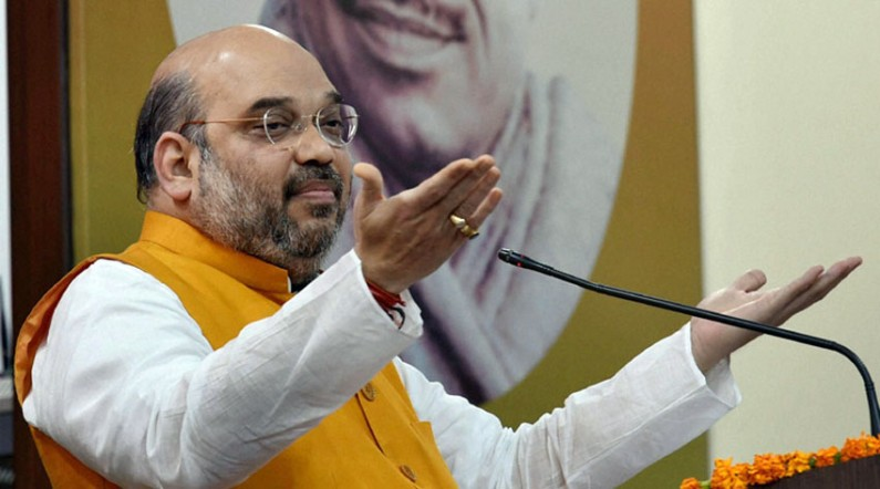 Not an inch of land will go to corporate houses under Land Acquisition, says Amit Shah