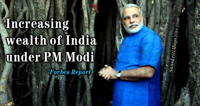 Increasing wealth of India under PM Narendra Modi