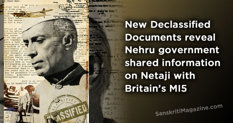 Documents reveal Nehru government shared information on Netaji with Britain's MI5