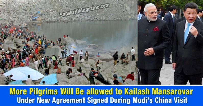Modi's Gift – More pilgrims will be allowed to Kailash Mansarovar under new agreement