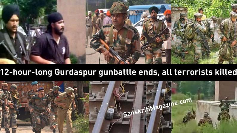 12-hour-long Gurdaspur gunbattle ends, all terrorists killed