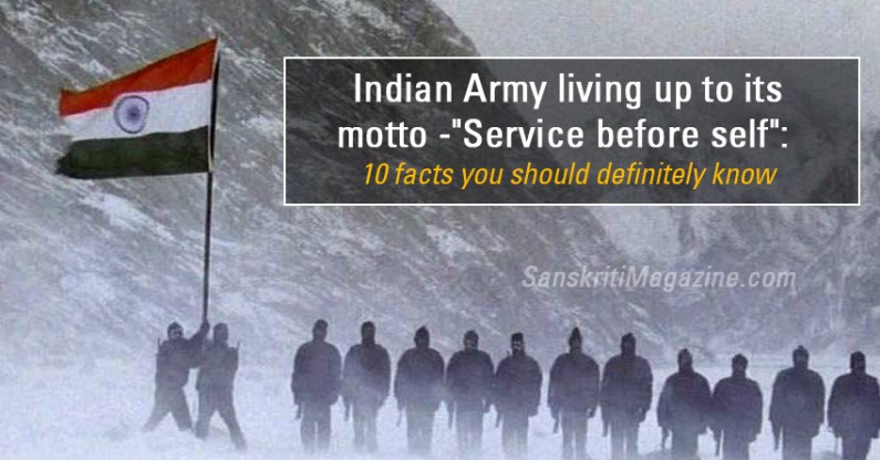 """Indian Army living up to its motto – """"Service before self"""""""