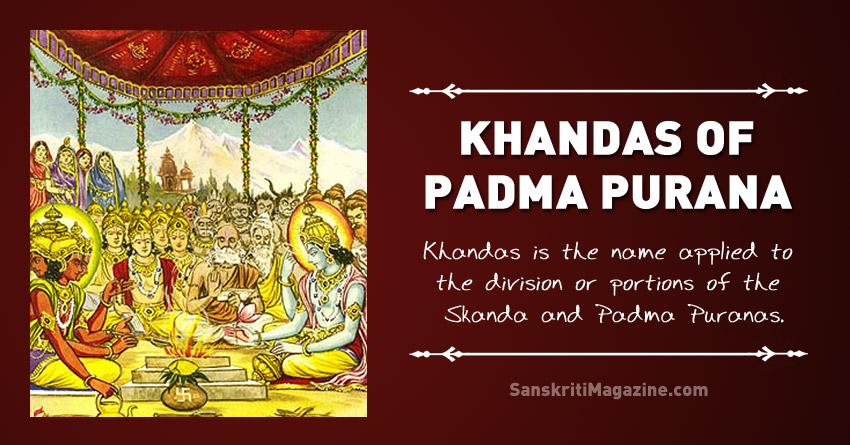 Khandas of Padma Purana