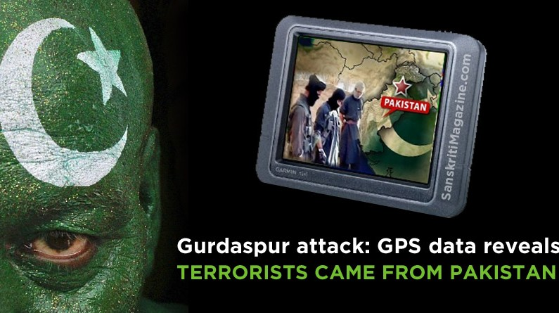 Gurdaspur attack: GPS data reveals terrorists came from Pakistan