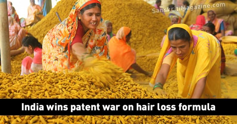 India wins patent war on hair loss formula