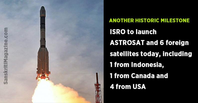Isro to launch ASTROSAT, 6 foreign satellites on 28 September