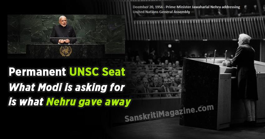 unsc seat nehru