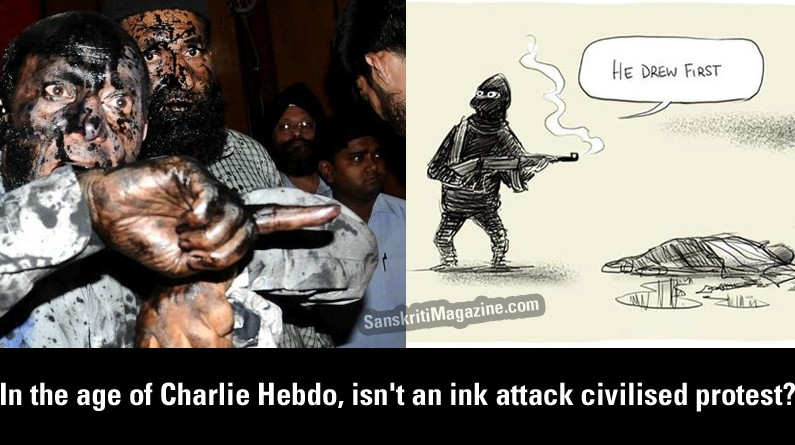 In the age of Charlie Hebdo, isn't an ink attack civilised protest?