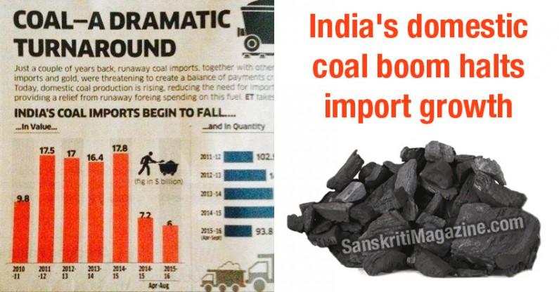 India's domestic coal boom halts import growth