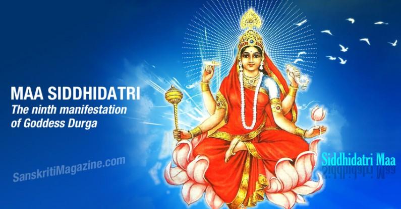 Maa Siddhidatri: The ninth manifestation of Goddess Durga