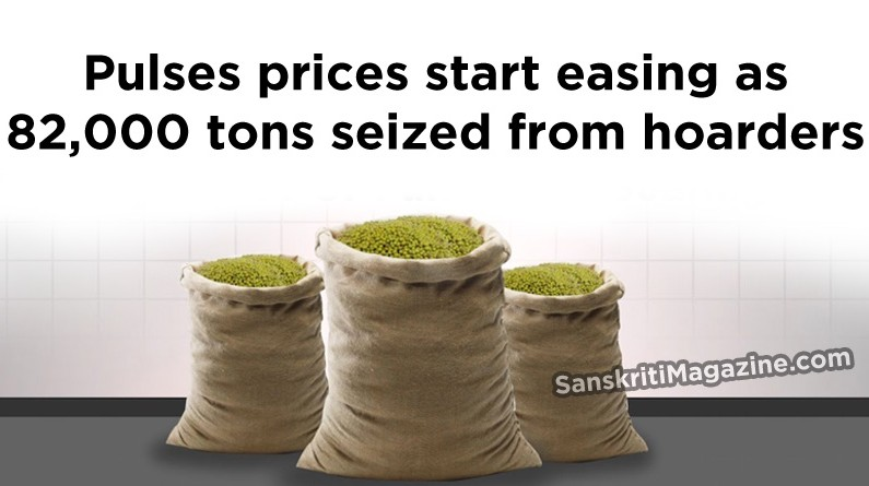 Pulses prices start easing as 82,000 tons seized from hoarders