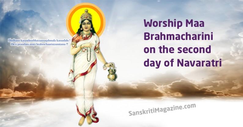 Worship Maa Brahmacharini on the second day of Navaratri