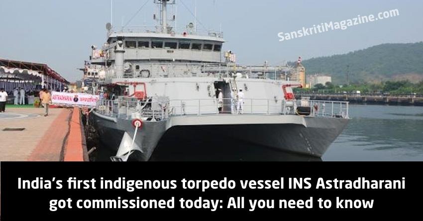 indigenous torpedo vessel INS Astradharani