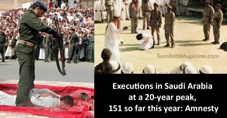 Executions in Saudi Arabia at a 20-year peak, 151 so far this year: Amnesty